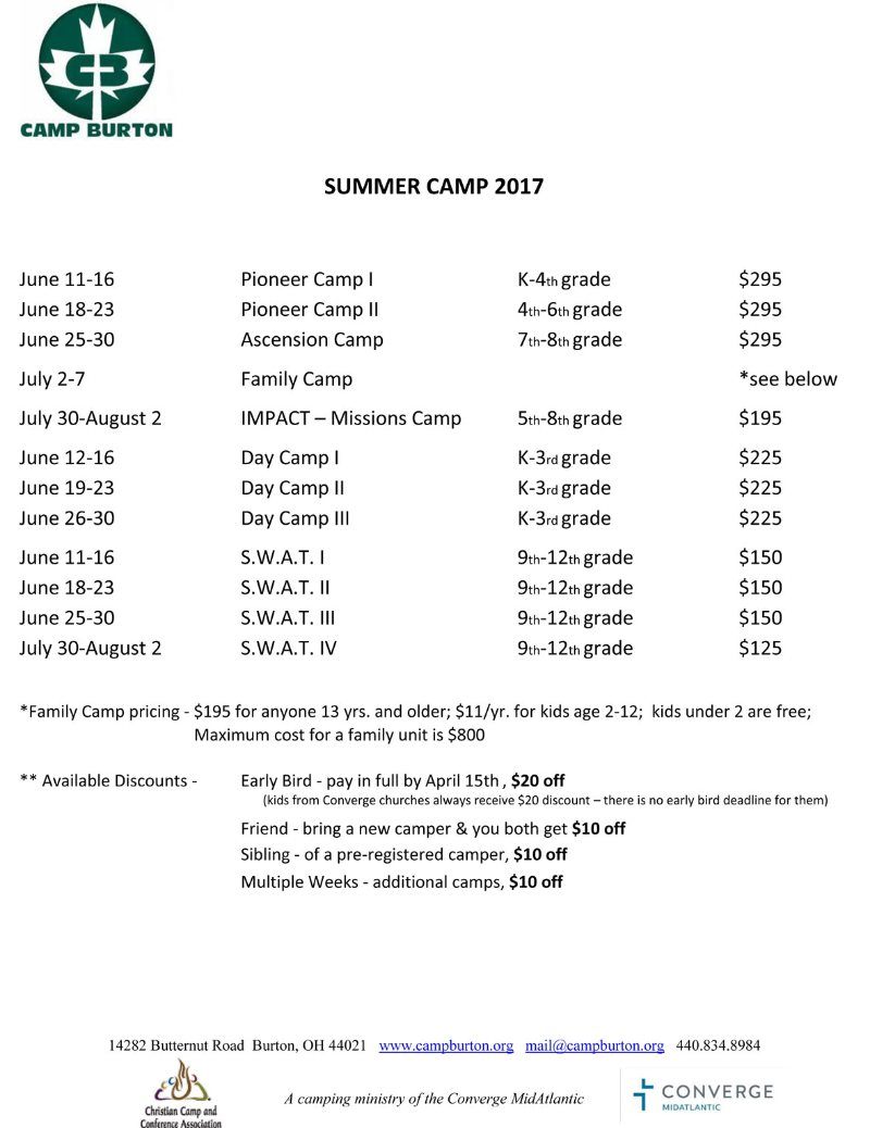 2017-summer-camp-dates